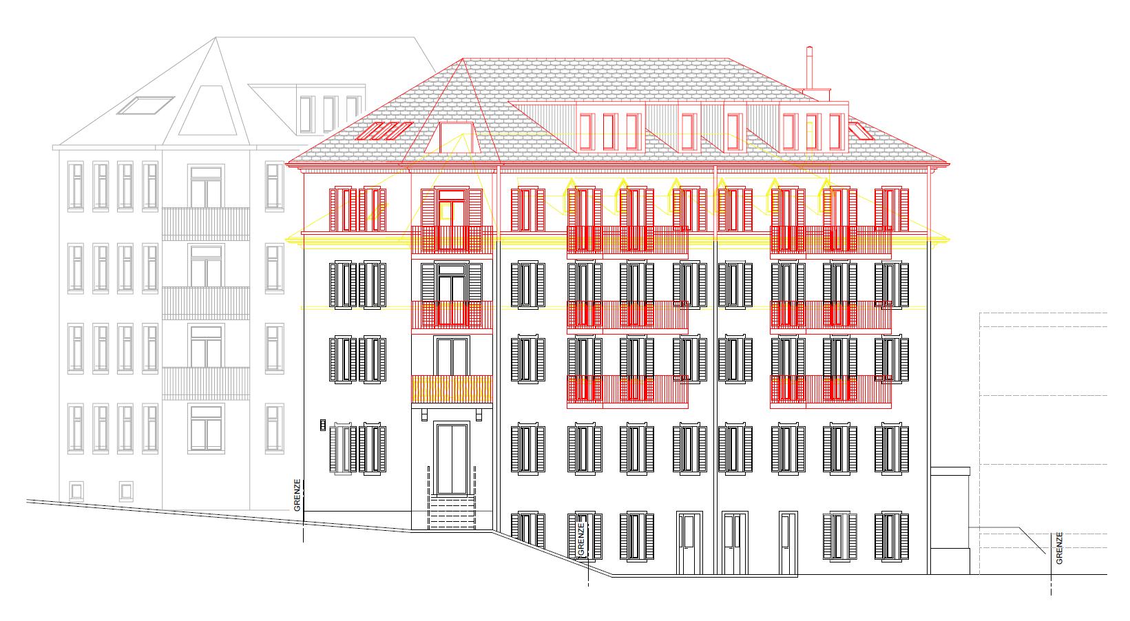 Buerglistrasse SG Fassade 1
